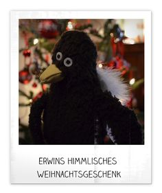 Erwin hat Flügel geschenkt bekommen.