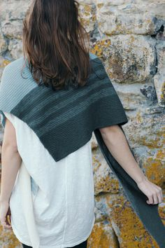 shimmering sea by katrine birkenwasser / from the shawls 2016 collection / in quince & co. piper, colors longhorn, guadalupe, and coldspring
