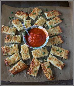 cauliflower breadsticks by The Culinary Chase