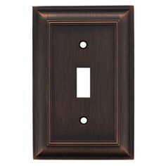 "allen + roth 3""W x 4""H Oil-Rubbed Bronze Toggle Metal Wall Plate  Item #: 139711 