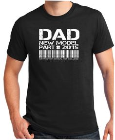 NEW DAD shirt 2015 pregnancy announcement baby by BluYeti on Etsy