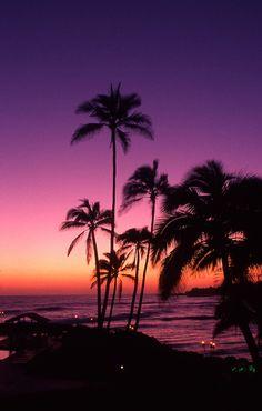 Tahiti sky at sunset