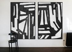 Huge Large Canvas prints add a unique touch to your home. Modern, stylish and unique design will be the most special piece of your decor. Especially for those who like abstract works, black and white acrylic painting can be prepared in desired sizes Painting include 2 pieces. for