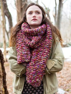 Easy Knitting Project - Wood Lily Scarf FREE Knitting Pattern!