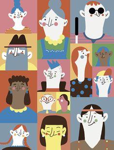 Social inclusion by Paulina Morgan, via Behance