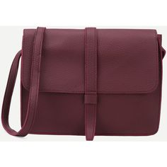 SheIn(sheinside) Burgundy Faux Leather Flap Messenger Bag (1.125 RUB) ❤ liked on Polyvore featuring bags, messenger bags, shein, burgundy, courier bag, vintage messenger bag, flap crossbody, purple crossbody bag and purple crossbody