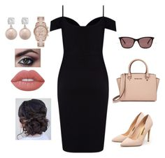 """Office outfit"" by kanezabintaba on Polyvore featuring Lipsy, Rupert Sanderson, Michael Kors, Ted Baker, MICHAEL Michael Kors and Lime Crime"