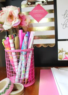 La Petite Fashionista: Colorful Desk Supplies
