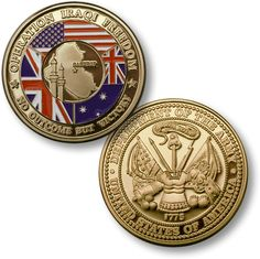 No Substitute For Victory Army Challenge Coin - MerlinGold Coin Collecting Books, Military Challenge Coins, Military Memorabilia, Australian Flags, Coin Design, Coin Values, Merit Badge, Freedom, Product Launch