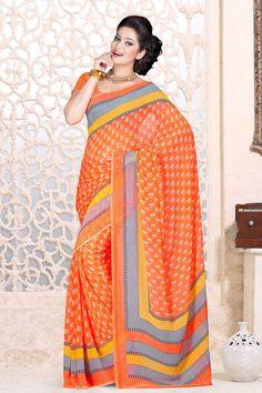 Orange en mousseline de soie Saree et Orange Chemisier en mousseline Prix:-35,36 € Designer Indien orange saris sont maintenant en magasin présente par Andaaz Mode . Agrémentée de travaux imprimés et Orange en mousseline de soie à manches courtes Blouse . Ceci est parfait pour l'usure de fête, mariage , vêtements de fête , décontracté , cérémonial . http://www.andaazfashion.fr/orange-chiffon-saree-and-orange-chiffon-blouse-dmv7877.html