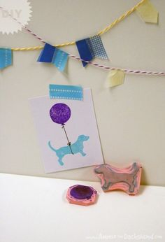 Hand-carved stamp and wrap tutorial