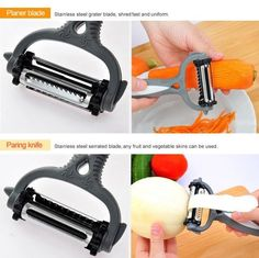 Drhob Kitchen Accessories Planer Multifunctional 360 Degree Rotary Potato Peeler Vegetable Cutter Fruit Melon Planer Grater Kitchen Tools: Product in 1 Rotating Cutter Material:Stainless steel Inch) Color:Multicolor random Packing Buy Kitchen, Kitchen Tools, Kitchen Gadgets, Potato Slicer, Spiral Cutter, Fruit And Vegetable Carving, Friendly Plastic, Grater, Stainless Steel Material