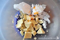 Coco-Cocoa Whipped Body Butter - Humblebee & Me Homemade Body Lotion, Sugar Scrub Homemade, Diy Lotion, Lotion Bars, Whipped Coconut Oil, Whipped Body Butter, Raw Cocoa Butter, Shea Butter Face, Diy Skin Care