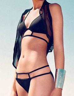 pinup bikini, two-piece split, hot springs bathing suit swimsuit, beach women swimwear,add Sexy  lingerie.   B031 on Etsy, $35.99