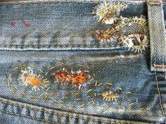mending jean waistband