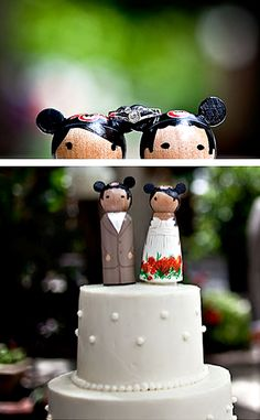 disney mickey and minnie mouse wedding cake toppers found here http://www.etsy.com/shop/CreativeButterflyXOX?section_id=7832343=8
