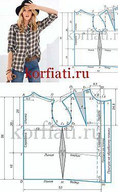 Modelo de las blusas de las mujeres - la base de A. Korfiati