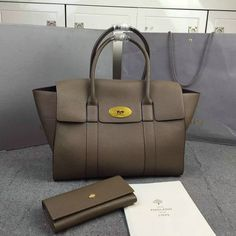 Latest Mulberry New Bayswater Tote Clay Natural Grain Leather