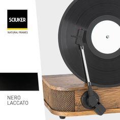 Alla scoperta della finitura #LaccatoNero delle finestre #Sciuker con un'icona di #design: il #disco in #vinile. Frame, Design, Picture Frame, Frames