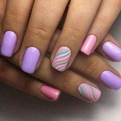 cute and colorful easter nail art designs for spring 2019 38 Spring Nail Colors, Spring Nails, Summer Nails, Simple Nail Art Designs, Best Nail Art Designs, Nail Designs For Easter, Popular Nail Colors, Nagellack Design, Gel Nagel Design