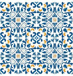 Portuguese tiles vector - by nahhan on VectorStock®