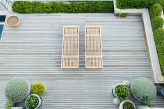 beautiful pale decking and planting - Franchesca Watson Outdoor Rooms, Outdoor Gardens, Outdoor Living, Modern Landscaping, Backyard Landscaping, Porches, Landscape Design, Garden Design, Rooftop Garden