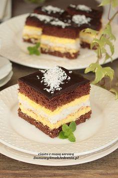 ciasto z masą serową | Domowy Smak Jedzenia .pl Tiramisu, Ethnic Recipes, Cook, Cooking, Tiramisu Cake