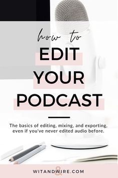 You've recorded a podcast, but what about producing? Editing a podcast doesn't have to be a mystery. Get all the production details in the how-to guide! Content Marketing, Digital Marketing, Mobile Marketing, Inbound Marketing, Marketing Plan, Business Marketing, Online Marketing, Podcast Topics, Podcast Setup