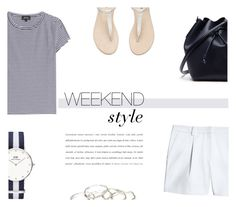"""Weekend Style"" by nmkratz ❤ liked on Polyvore featuring A.P.C., Canvas by Lands' End, Daniel Wellington, Lacoste and Emily Amey Jewelry"