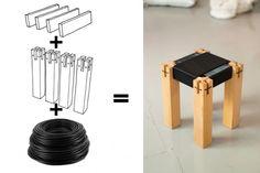 DIY woven stool