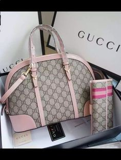 Complete your feminine look with this lovely, functional and flexible Gucci Nice GG Supreme Canvas Top Handle Bag which is in doom shape. View more at www.luxtime.su/...