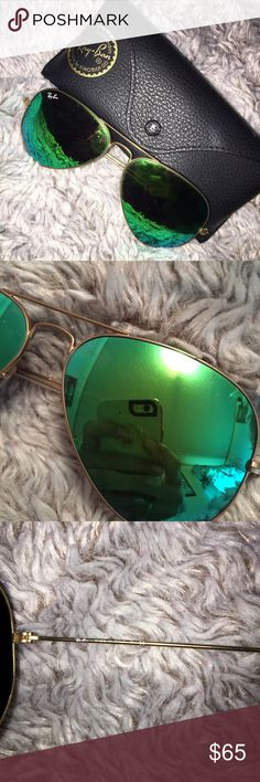 RAY-BANS bought from another posher//too big on my face//I love them//100% authentic//JUST WANT TO MAKE MY MOENY BACK!!:) Ray-Ban Accessories Sunglasses