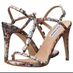 Steve Madden T-Strap Jeweled Heels