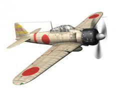 3D Model Mitsubishi A6M2 Zero Carrier Akagi c4d, obj, 3ds, fbx, ma, lwo 77154