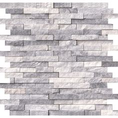 null Alaska Gray Splitface 12 in. x 12 in. x 10 mm Marble Mesh-Mounted Mosaic Tile (10 sq. ft. / case)