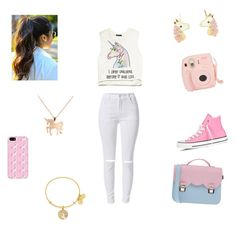"""""""UNICORN 4 LIFE¡"""" by magcon-life7 ❤ liked on Polyvore featuring Louche, Forever 21, Alex and Ani, Accessorize, Converse, La Cartella, women's clothing, women's fashion, women and female"""