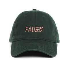 Faded Strapback ($38) ❤ liked on Polyvore featuring accessories, hats, adjustable hats, 6 panel hat, cap hats, sun visor and visor hats