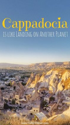 Cappadocia in Turkey is the most magical place on Earth! It has weird volcanic formations, fairy chimneys, caves, breathtaking viewpoints and hot air balloons. Check this post and get ready to fall in love - https://drifterplanet.com/cappadocia-is-the-most-magical-place-on-earth/