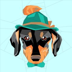 Looking for your next project? You're going to love Hipster Daschi Dog by designer JaneenVN.