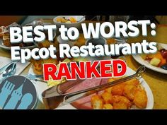 Ranking Epcot's table service restaurants Best to Worst in Disney World! Disney Tips, Disney Food, Disney Parks, Walt Disney, Best Epcot Restaurants, Disney Dining, Best Places To Eat, Trip Planning, Food Videos