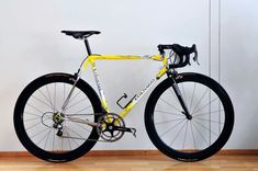 Colnago Master // yellow, black rims