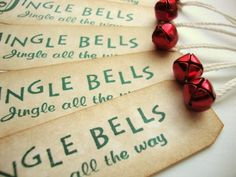 Cute jingle bell gift tags