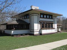 Frank Lloyd Wright. Stockman House, Mason City, Iowa. 1908