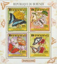 BUR 14105 aButterflies Butterflies, Stamps, Baseball Cards, Cover, Art, World, Seals, Art Background, Butterfly