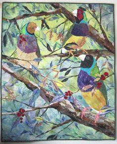 Barbara Strobel Lardon Art quilts: Juried Show: Gouldians