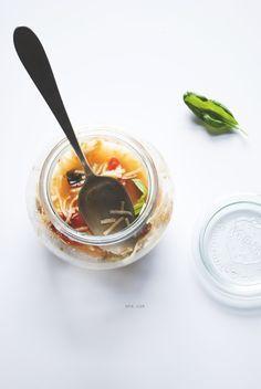 Zuppetta di tagliolini Cipriani® in vasocottura con guazzetto mediterraneo