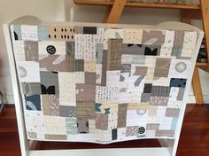 Modern baby quilt with the beautiful organic cottons from Maze & Vale
