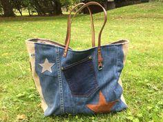 Sac Sardine et Cie Collection Jean/Jute Jeans Diesel, Denim Bag, Visual Merchandising, Bucket Bag, Collection, Sewing, Diy Couture, Bags, Pouches