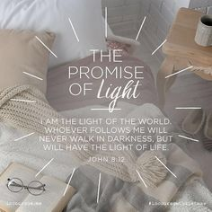 Day 3 - The Promise of Light. . I am the Light of the world. Whoever follows Me will never walk in darkness but will have the light of life. John 8:12 . 25 Days of Christmas Promises // #incouragechristmas