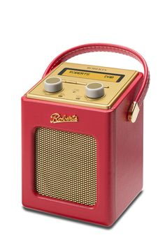 Red Revival Mini retro vintage shabby chic radio by Roberts